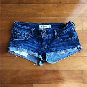Abercrombie Dark Blue Denim Shorts || 14